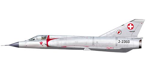 Dassault Mirage III S Plus, 17º Escuadrón, Fuerza Aérea de Suiza, Base Aérea de Payerne, 1988.