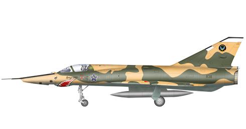 Dassault Mirage III ZR de reconocimiento, Fuerza Aérea Sudafricana, 1980.