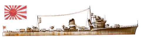 "Destructor ""AKATSUKI"", Armada Imperial Japonesa, 1943."