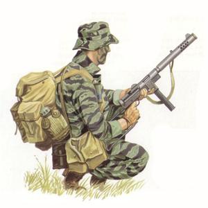 Long-Range Recon Patrol (LRRP), Vietnam, 1969.