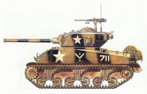 M-4 A3, 1ª Sección, 714º Batallón de blindados, 12º División de blindados, Alemania, 1945.