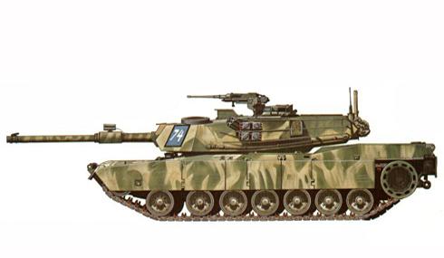 M1 Abrams, 11º Caballería blindada, Ejercicios Reforger de la OTAN, Alemania, 1983.