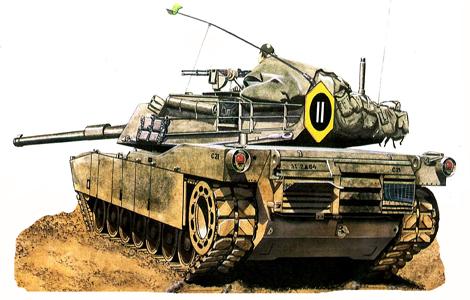 M1 Abrams, 2-64º Blindados, 3ª División de Infantería, Alemania, 1983.