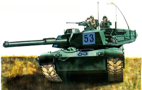 M1 Abrams, 2-64º Blindados, 3ª División de Infantería, Alemania, finales de 1982.
