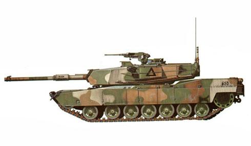 M1 Abrams, 2º Batallón, 67º de blindados, 2ª División de blindados, Fort Hood, Texas, 1983.