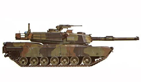 M1 Abrams, 4-66 de Caballería, 3ª División de Infantería Mecanizada en Alemania, 1987.