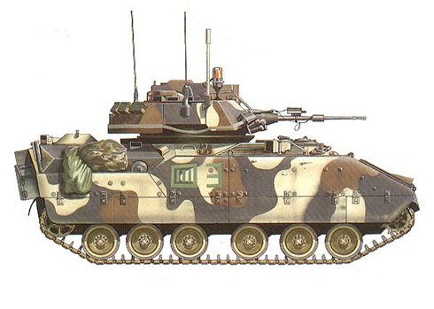 M2 Bradley, Crentro Nacional de Entrenamiento, Fort Irwin, California, 1991.