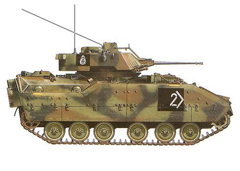 M2A1 Bradley, 3ª División Acorazada con base en Alemania, 1990.