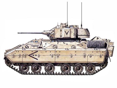 M2A1 Bradley, 7º de Infantería, 2ª Brigada, 24ª División de Infantería Mecanizada, Irak, 1991.