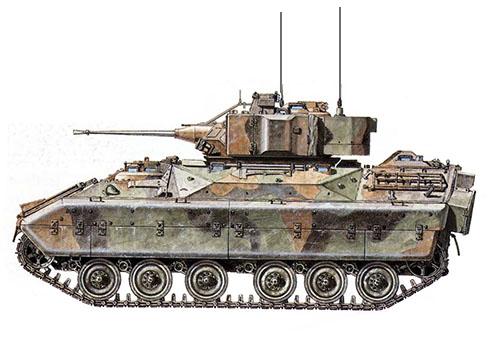 M2A1 Bradley, Regimiento de Infantería, Esquema de camuflaje de la OTAN, Europa, 1987-1985.