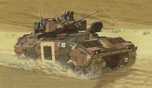 M2A2 Bradley, 41º de Infantería, 2ª División Acorazada, Centro Nacional de Entrenamiento, Fort Irwin, California, 1988.