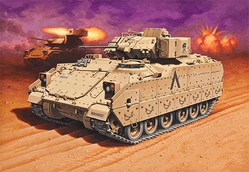 M2A2 Bradley IFV, 4-7 INF, 3ª División de Infantería, Operación Desert Storm, 1991.