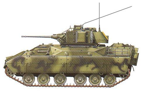 M3 Bradley, 1/12 Rg. Caballería, Fort Knox, Kentucky, 1986.