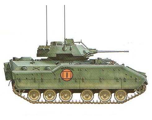 M3 Bradley, 179º Brigada de Infantería Mecanizada, Opereción DESERT SHIELD, Arabia Saudí, 1990.