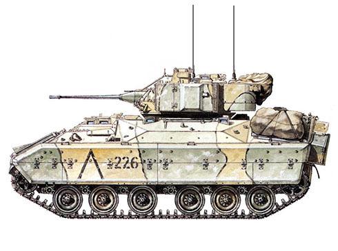 M3A1 Bradley, 24ª División de Infantería Mecanizada, Fort Apache, Arabia Saudí, 1991.