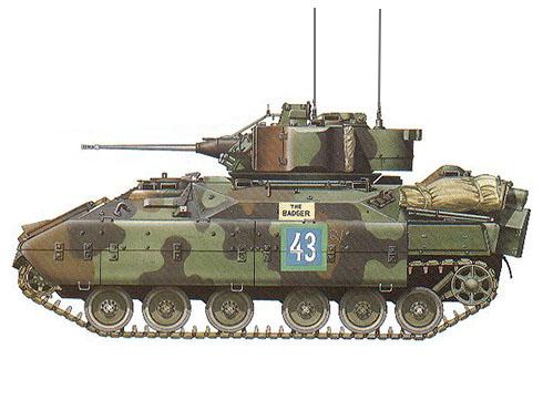 M3A1 Bradley, Compañía Cuartel General, 3ª División Acorazada, 1989.