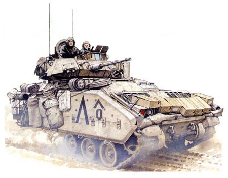 M3A1 Bradley, Task Force 1-8 de Caballería, 2ª Brigada 'Blackjack', 1ª División de Caballería, Irak, 1991.