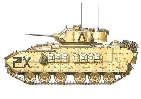 M3A2 Bradley, Compañía HQ, 3ª Caballería Acorazada, Operación Desert Storm.