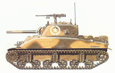 M4 A1 Sherman, E Co., 2º Batallón, 67º Regimiento de blindados, 2º Div. de blindados, Operación 'Husky', Sicilia, 1943.