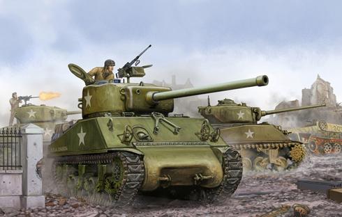 M4 A1 Sherman, en algún lugar de Francia, 1944.
