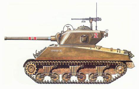 M4 A3 Sherman, 4º Batallón de blindados, 1ª División de blindados, Sta. Lucía, Italia, Octubre de 1944.