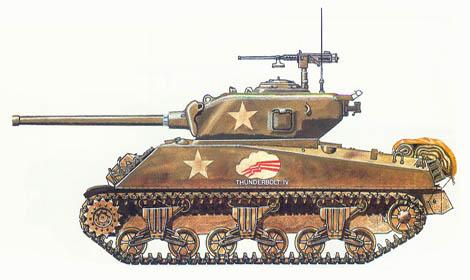 M4 A3 Sherman, HQ, 37º batallón de blindados, 4ª División de blindados, Bastogne, Bélgica , Diciembre de 1944.