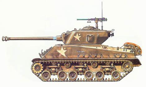 M4 A3 Sherman HVSS, 41º Batallón de tanques, 11ª División de blindados, Río Rin, Alemania, Marzo de 1945.