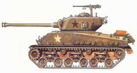 M4 A3 Sherman HVSS, 4ª División de blindados, Bastogne, Enero de 1945.