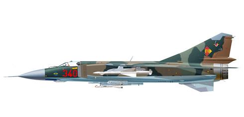 MiG-23 MLA Flogger G, Fuerza Aérea de la RDA, Base Aérea de Peenemunde, Rep. Democrática de Alemania, 1992.