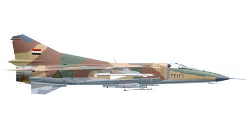 MiG-23 MS Flogger E,  Fuerza Aérea Iraquí, Base Aérea de Al Bakr, Irak, 2003.