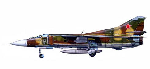 Mig-23M Flogger B, URSS Air Force, Alemania del Este, 1975.