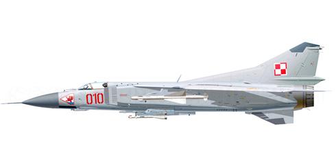 MiG-23MF Flogger-B, Fuerza Aérea de la Rep. de Polonia, Base Aérea de Slupsk, 1999.