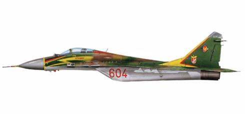 MIG-29 Fulcrum A, JG3, Fuerza Aérea de la Rep. Democrática de Alemania, Preschen.