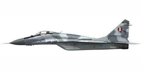 MIG-29 Fulcrum S, 612º Escuadrón de caza, Grupo Aéreo 6, Fuerza Aérea del Perú.