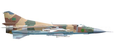 Mikoyan Gurevich MIG-23 MS Flogger, Fuerza Aérea de Líbia, 1989.