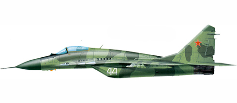 Mikoyan-Gurevich MIG-29 Fulcrum, Base Aérea de Damgarten, Rep. Democrática de Alemania, 1994.