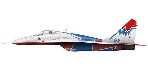 Mikoyan Mig-29 A Fulcrum, Equipo Acrobático Ruso ''Swifts'', Fuerza Aérea de Rusia, 2009.