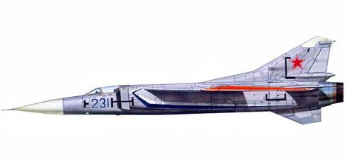 Prototipo Mig-23 Flogger, Domodedowo, URSS Air Force, 1967.