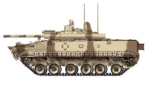 Vehículo de Combate de Infantería BMP-3,  de los Emiratos Árabes Unidos.