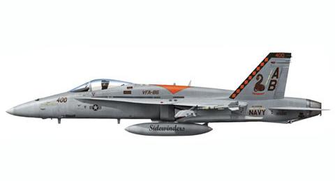 FA-18 C Hornet, VFA-86 Sidewinders, USS Enterprise.