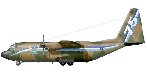 Lockheed C-130 B Hercules, Fuerza Aérea Sudafricana, 75º Aniversario.