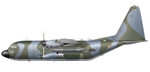 Lockheed C-130-L-100 Hercules,  Armee de l'Air, Francia, 1992.