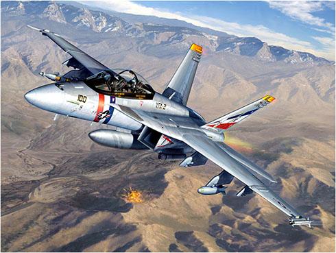 McDonnell-Douglas FA-18 F SuperHornet del VFA-2, USS Abraham Lincoln