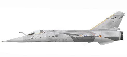 Mirage F-1 CE, Ala 14 de combate, Fuerza Aérea Española, Los Llanos, Albacete, 1990.