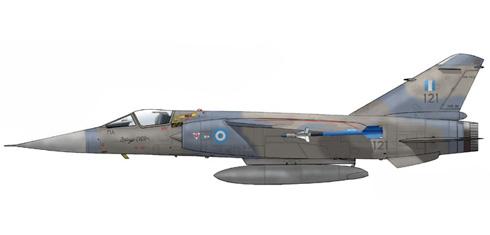 Mirage F-1 CG, 342 MPK, Fuerza Aérea Griega, va armado con misiles Sidewinders.