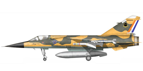 Mirage F-1 CZ, 3er. Escuadrón, Fuerza Aérea Sudafricana, 1987.