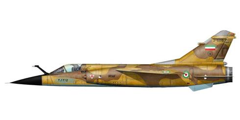 Mirage F-1 EQ, Fuerza Aérea de Irán, estos aviones pertenecian a la Fuerza Aérea de Irak, 1991.