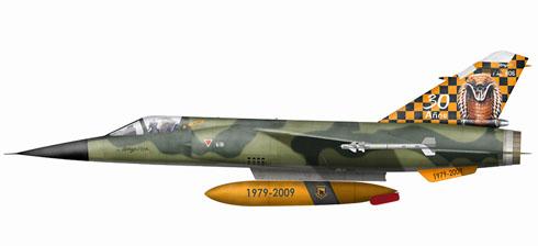 Mirage F-1 JA, 21º Ala de Combate, 2112º Escuadrón de Combate, celebración 30º aniversario, Fuerza Aérea Ecuatoriana, Base de Taura, 2009.