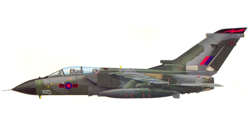 Tornado GR.MK.1, 617º Escuadrón, Royal Air Force.