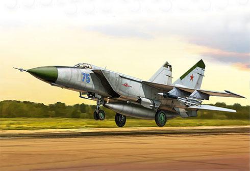 """Despegue de un Mig-25 """"Foxbat"""", Fuerza Aérea de la URSS, 1982."""